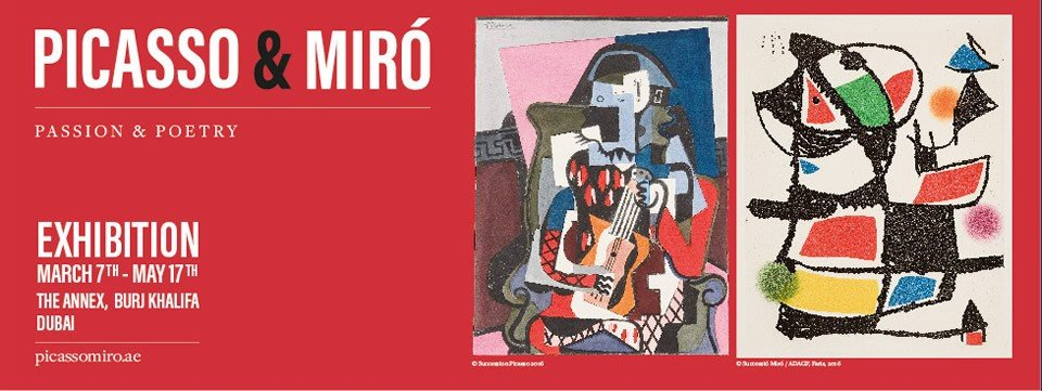 Picasso&Miro,Pasiion and Poetry exhibition Dubai - March,Dubai