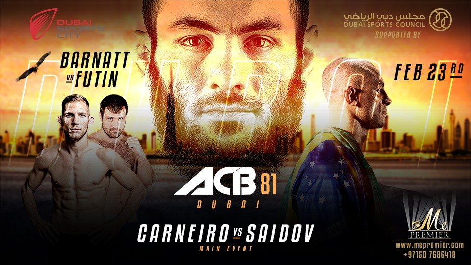 ACB 81: MMA Event - Less Show, More Fighting!,Dubai