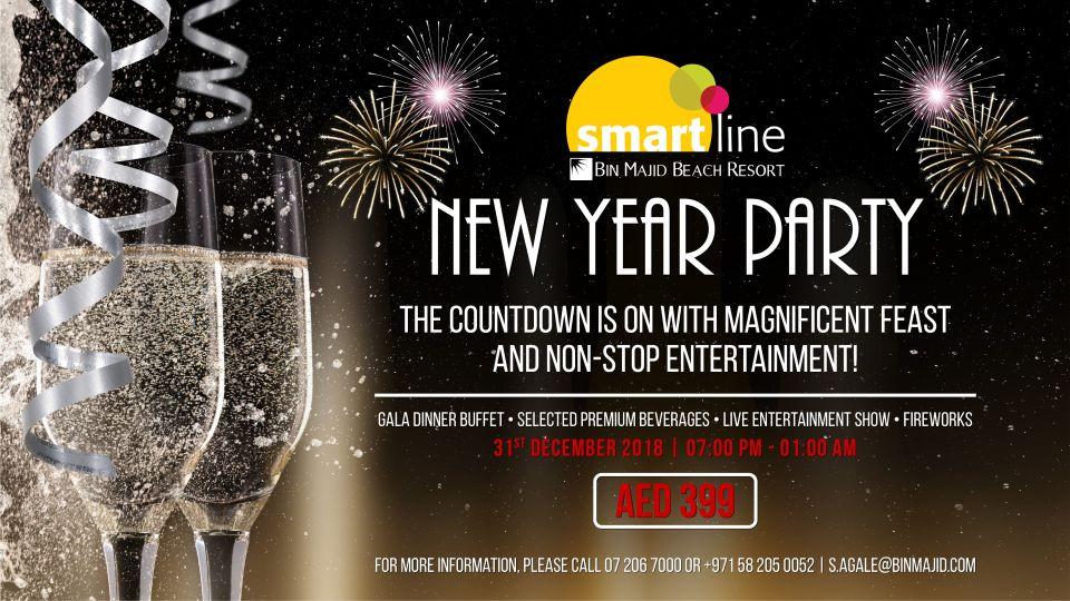 Bin Majid Beach Resort - New year party,Smartline Bin Majid Beach Resort - Al Jazeera Road - North Ras Al Khaimah,New Years Eve Events