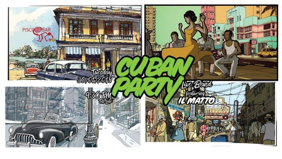 Cuban Party at Pisco Bar,Pisco Bar,Ladies nights
