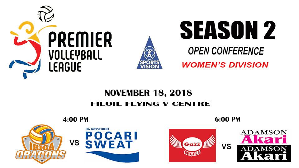 Nov. 18 Premier Volleyball League (Iriga Navy-Pocari Airforce/Petrogazz-Adamson Akari),Filoil Flying V Arena,Sports Events