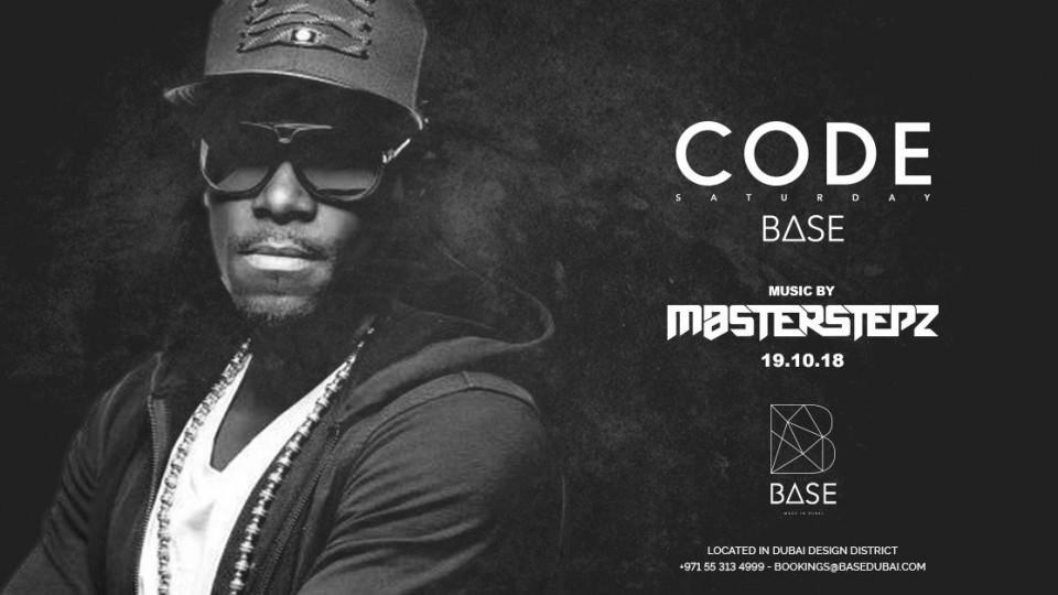 Saturday 20 October with UK number 1 DJ: Masterstepz,Base Dubai,EDM